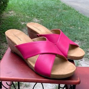 NEW Pink Sandals 12M